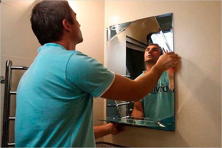 Как сделать крепежи на зеркале