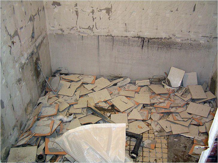 Демонтажные работы в ванной
