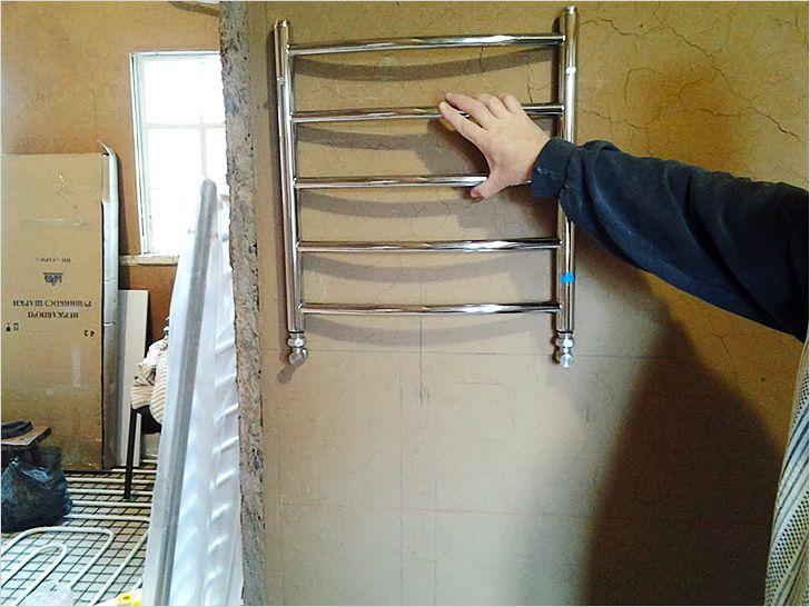 Монтаж полотенцесушителя в ванной своими руками
