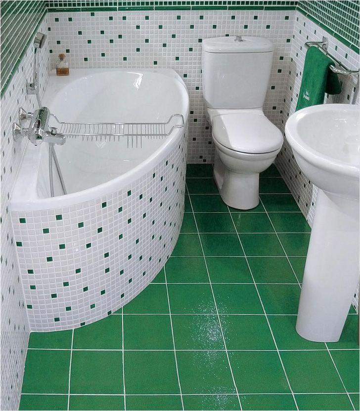 Дизайн ванн маленького размера и туалетов