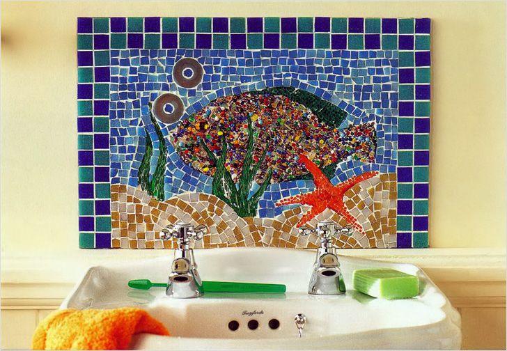 Отделка ванной комнаты мозаичной плиткой дизайн