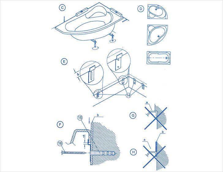 Полная схема монтажа акриловой