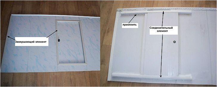 Как сделать дверцу в пластиковых панелях