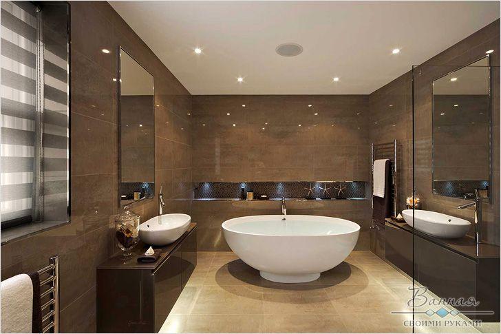 Ванные комнаты стиле современном р в ванную комнату